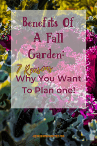 Fall vegetables with the words Benefits of a fall garden: 7 reasons why you want to plan one